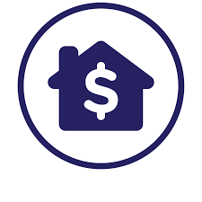 Logo with a home and a dollar sign
